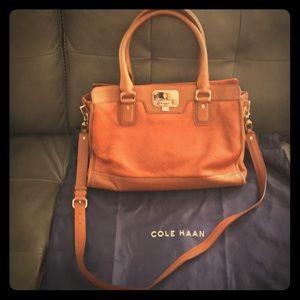 Cole haan Brown leather satchel
